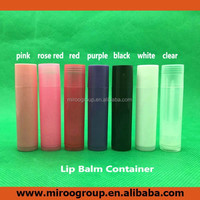 7colors DIY Empty Plastic Lip Balm Tube, Mouth Lip Balm Cosmetic Container