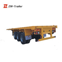 New Fuwa Brand Axles 40ft Flatbed Trailer Frame