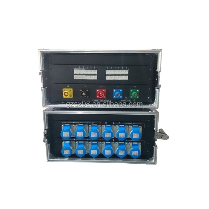 Audio 5U rack power distribution with 16A waterproof socket output