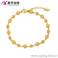 73640-xuping wholesale fashion jewelry with high quality 24k gold bead charm bracelet designs