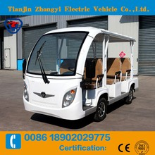 Luxury type off road electric tourist sightseeing bus on sale GD8-A8