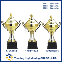 Custom souvenir metal trophies gold award golden medals and trophy