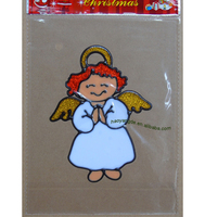 Angel Christmas sticker removable PVC stickers