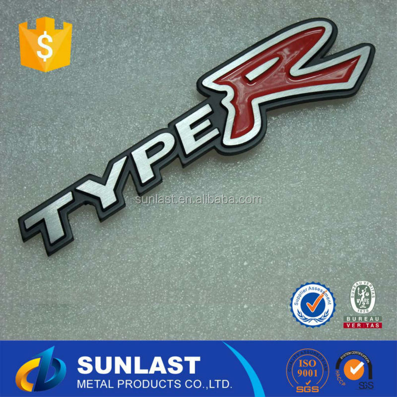 Sunlast Custom TYPER Motorcycle/ Bicycle /car stickers custom metal car emblem