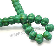 Natural pumpkin turquoise Sinkiang beads stabilized turquoise bead