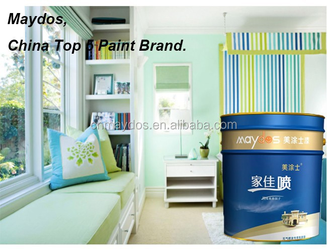 Hot Sell Multiple Color Acrylic Satin Interior Wall Finish Paint