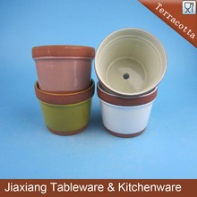 Colorful cheap small Terracotta Ceramic flower pot