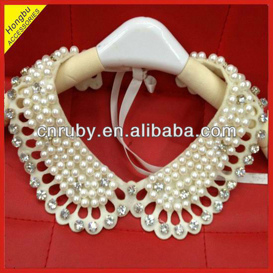 Pearls Beaded detachable collars for garments