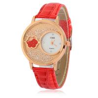 fashion lady PU leather quartz crystal wrist watch women custom oem watches wholesale R165