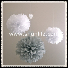 2016 hot new products paper pompom chart paper craft decoration