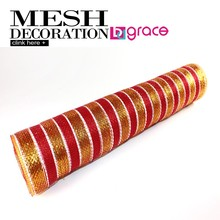 the popular china deco mesh supplier for christmas ornament