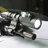 Tactical green Laser Sight and 1000 lumen led Cree Flash Light Combo for long gun