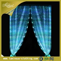 light emitting fabric crochet lace curtains pattern diy electric curtain
