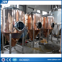 Copper Jacketed and Insulated conical beer fermenter for sale