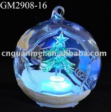 wholesale glass christmas open ball ornaments