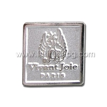 Metal Main Material and Button On Badge Type pin button metal plastic badge