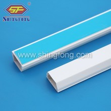 Adhesive trapezoid cable tray pvc duct
