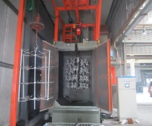 Bulk casting special hook type shot blasting machine