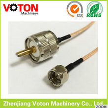 UHF male plug PL259 to F type male RF cable assembly RG316 x video