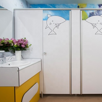 DEBO Beautiful Decorative hpl toilet cubicle 100% waterproof phenolic laminate toilet partition prefab toilet cubicle system