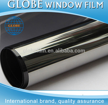 Black vinyl sticker roll silver chrome vinyl wrap solar reflective window film