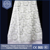 2016 alibaba hot selling indian jamawar fabric girls chemical lace embroidery fabric white lace fabric for wedding dress