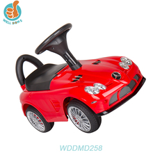 WDDMD258 Push Handle Kids Toy 4 Wheels Cars Baby New Sliding Car Tires With Music