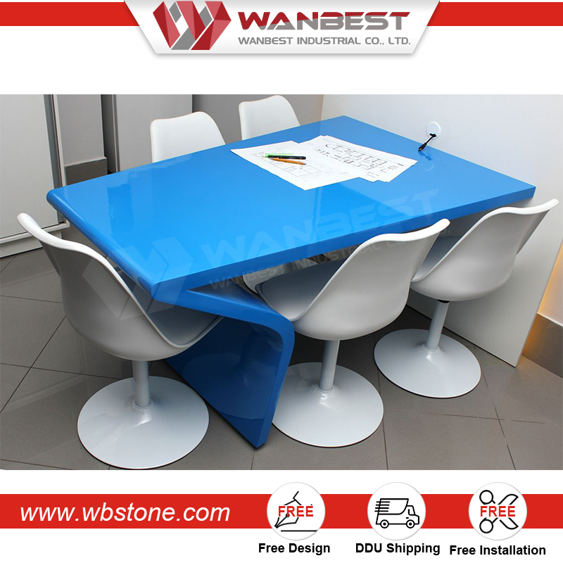 Wholesale Artificial Marble Portable Conference Room Discussion Table