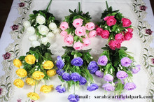 SJLJ0417 China export 10 heads artificial rose flower /silk flower for wedding decoration