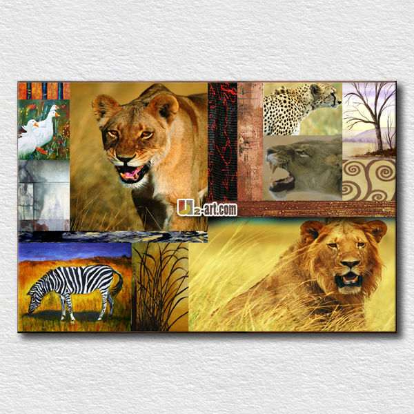 Wholesale animal canvas prints high quality tiger pictures for office room decoration