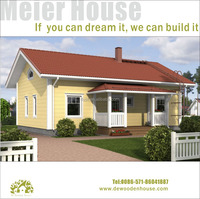 Prrefab Wooden House with Attic and Garage Dy-D-044