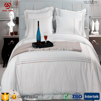 High star hotel fashion bleached cotton satin sheets