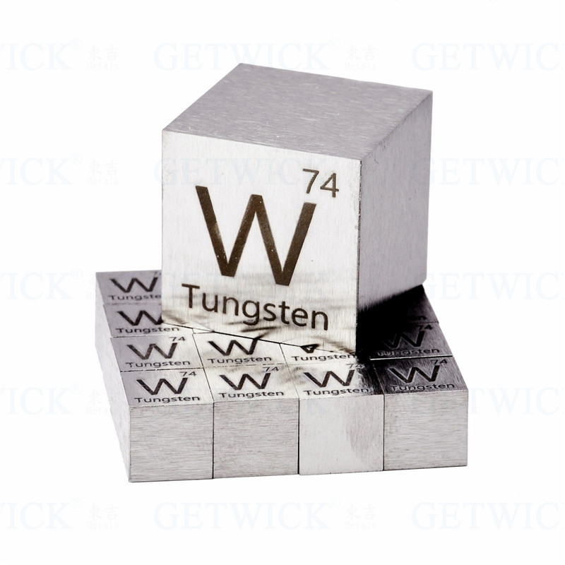Tungsten cube office decor by axis metals