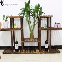 Custom Wooden Commercial Plant Pot Rack