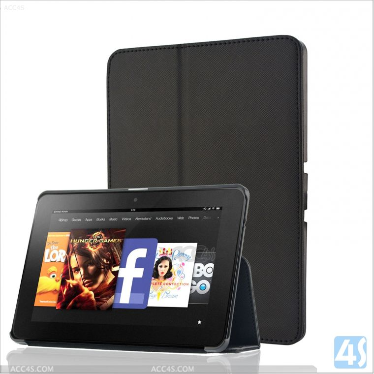 Flip Stand Leather Folio Cover for Kindle Fire HDX 7