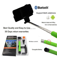NEW Wireless Bluetooth Remote Control Extendable Phone Selfie Monopod wireless mobile phone selfie stick for nokia lumia 1520