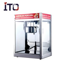 SI-1999 Hot Sale Stainless Steel Electric Auotmatic Commercial Caramel Popcorn Machine for Cinema