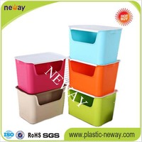 NW-115 Colored Hot Sales Clothes Plastic Storage Box