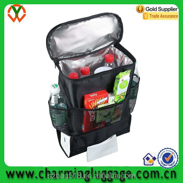 OEM china supplier multifunction cooler bag auto car seat back organizer