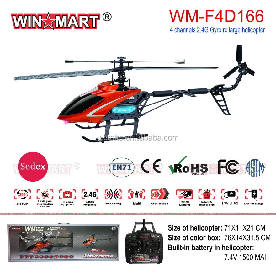 Cheap remote control helicopter 2.4G 4ch large scale flying toy helicopter