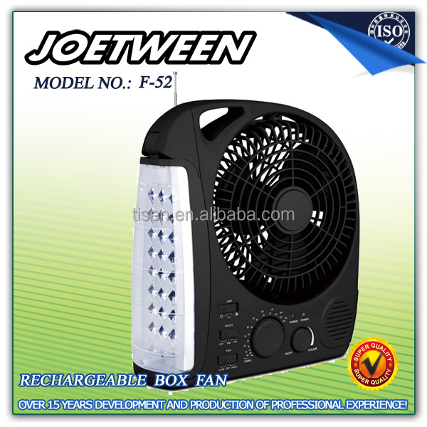 Protable usha rechargeable fan with light & radio