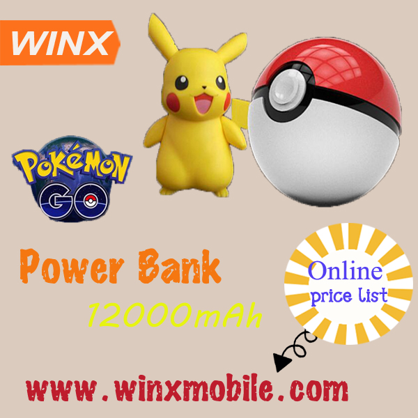 Hot wholesale pokemon pokeball power bank backup battery
