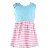 The summer new design factory wholesale cheap causal stripe sleeve dress for girls