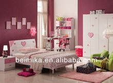 kids bedroom furniture set cheap Girls Bed/Bedroom Set of Glossy Style/italian french furniture 853#