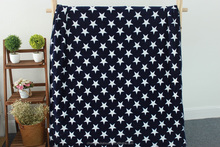 100% Polyester Blue Star Printing Throw Coral Fleece Blanket
