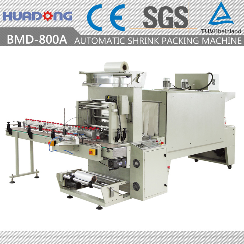 semiautomatic drink bottle shrink packing machine aluminum foil , frozen food packaging machine