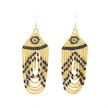Fashion water import Beads earrings gold earrings women jewelry drop earrings