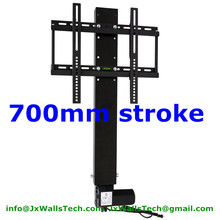 Quiet noise tv lift system 700MM stroke with remote and mounting brackets for 26-60inch TV