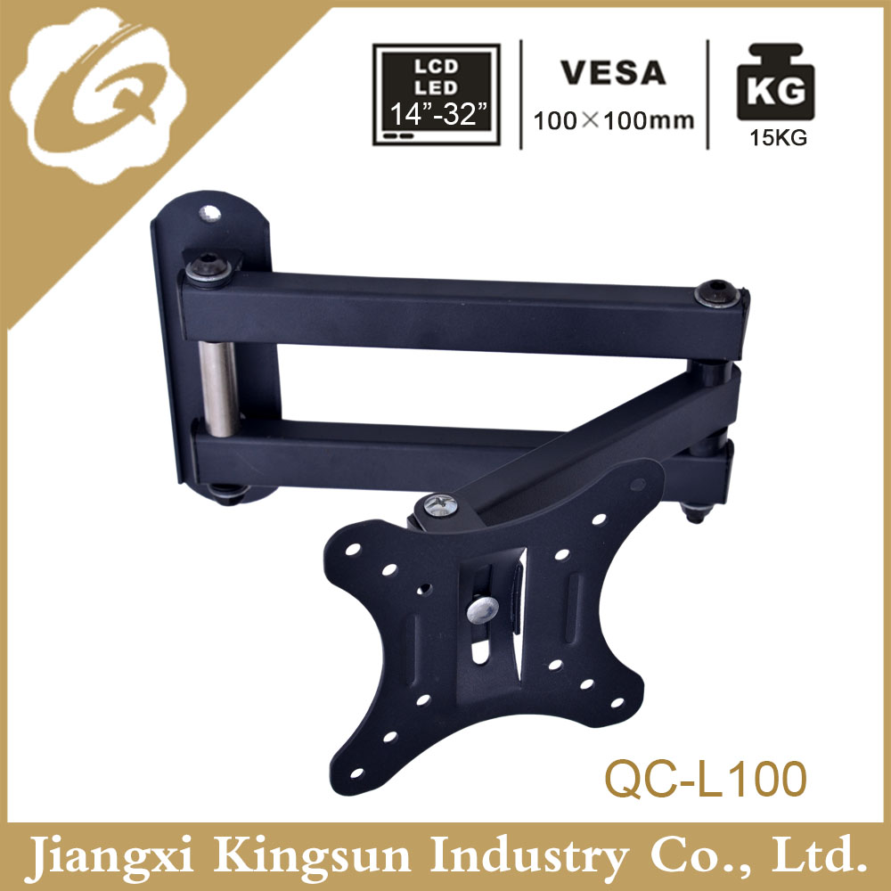 Full-Motion Articulating Arm Corner Swiveling 180 degrees Cantilever TV Wall Mount With VESA 100*100 mm