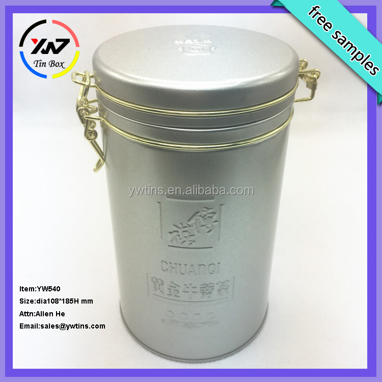 Recyclable Feature customized factory tin can/tin case/metal tin tea packing round box wholesale